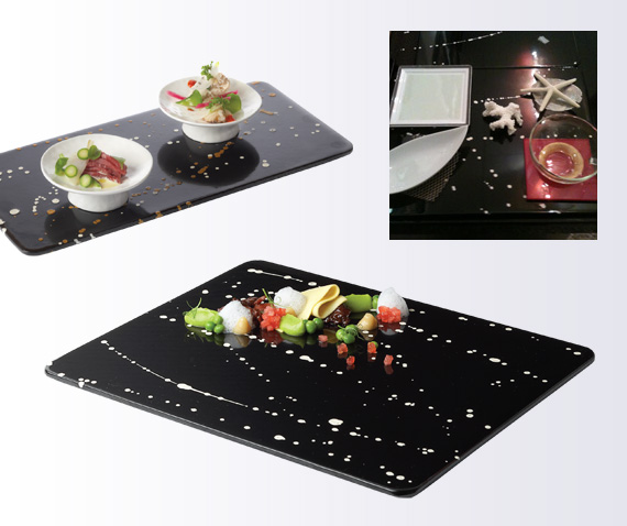 platters glass dinnerware milkyway